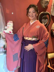 卒業式袴レンタルをご利用いただいた素敵なお客様です